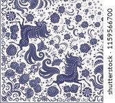 vector cute unicorn dark blue... | Shutterstock .eps vector #1159566700