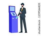 businessman using bitcoin... | Shutterstock .eps vector #1159566820