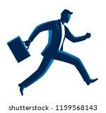 running businessman on a white... | Shutterstock .eps vector #1159568143