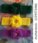 baby flower headband | Shutterstock . vector #1159573486