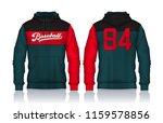 hoodie shirts template.jacket...   Shutterstock .eps vector #1159578856