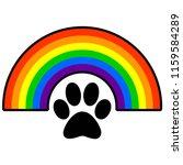 rainbow bridge   a vector...   Shutterstock .eps vector #1159584289