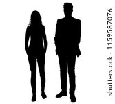 vector silhouettes man and... | Shutterstock .eps vector #1159587076