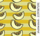 melon vector seamless pattern.... | Shutterstock .eps vector #1159587190