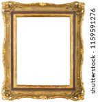 an ornate antique gold coloured ... | Shutterstock . vector #1159591276