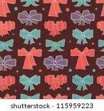 seamless background with bows.... | Shutterstock .eps vector #115959223