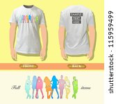 silhouette model on a shirt.... | Shutterstock .eps vector #115959499