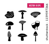 mushrooms on a white background....   Shutterstock .eps vector #1159597366