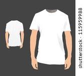front   back white shirt design.... | Shutterstock .eps vector #115959988