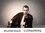 young dashing judge in black... | Shutterstock . vector #1159609096