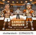 canelo alvarez vs. gennady... | Shutterstock .eps vector #1159610170