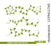 green vines   set 2 | Shutterstock .eps vector #1159611760