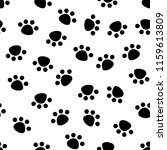 seamless pattern with animal... | Shutterstock .eps vector #1159613809