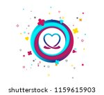 heart ribbon sign icon. love... | Shutterstock .eps vector #1159615903