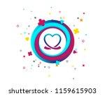 heart ribbon sign icon. love...   Shutterstock .eps vector #1159615903