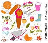 autumn illustration element.... | Shutterstock .eps vector #1159628269