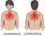 heart attack pain locations ...   Shutterstock .eps vector #1159628326