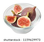 fresh raw ripe figs in glass... | Shutterstock . vector #1159629973