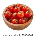 fresh ripe tomatoes in wood... | Shutterstock . vector #1159636849