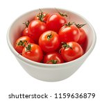 fresh ripe tomatoes in ceramic... | Shutterstock . vector #1159636879
