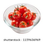 fresh ripe tomatoes in glass... | Shutterstock . vector #1159636969