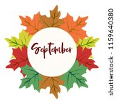 autumn vector frame with leaf... | Shutterstock .eps vector #1159640380