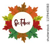 autumn vector frame with leaf... | Shutterstock .eps vector #1159640383