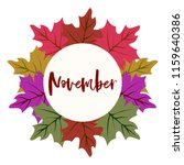 autumn vector frame with leaf... | Shutterstock .eps vector #1159640386