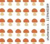 vector pattern with mushrooms | Shutterstock .eps vector #1159640389