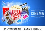 cinema and movie time banner... | Shutterstock .eps vector #1159640830