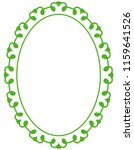 green oval photo frame border... | Shutterstock .eps vector #1159641526