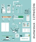 set of medical equipment in... | Shutterstock .eps vector #1159642246