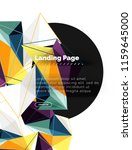 vector 3d triangle abstract... | Shutterstock .eps vector #1159645000