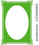 green oval photo frame border... | Shutterstock .eps vector #1159646503