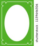 green oval photo frame border... | Shutterstock .eps vector #1159646506