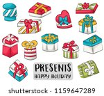gift boxes concept icons set.... | Shutterstock .eps vector #1159647289