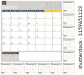 spanish calendar template for... | Shutterstock .eps vector #1159651123