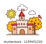 cartoon castle with autumn... | Shutterstock .eps vector #1159651210