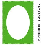 green oval photo frame border... | Shutterstock .eps vector #1159651753