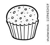 coloring book for children  cake | Shutterstock .eps vector #1159652419