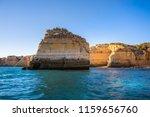algarve seashore and caves.... | Shutterstock . vector #1159656760