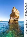 algarve seashore and caves.... | Shutterstock . vector #1159656763