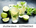 mojito cocktail in glass on... | Shutterstock . vector #1159660363