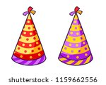 birthday striped colorful caps. ... | Shutterstock .eps vector #1159662556