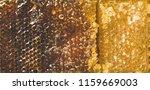 natural bee honeycomb texture ... | Shutterstock . vector #1159669003