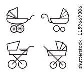 stroller icons. linear symbols... | Shutterstock .eps vector #1159669306