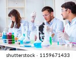 team of chemists working in the ... | Shutterstock . vector #1159671433