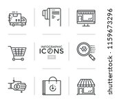 bundle of linear icons  symbols ... | Shutterstock .eps vector #1159673296