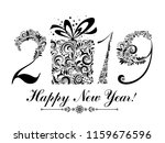 happy new year 2019  vintage... | Shutterstock .eps vector #1159676596