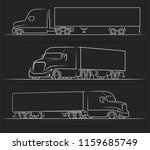 american road train silhouettes ... | Shutterstock .eps vector #1159685749